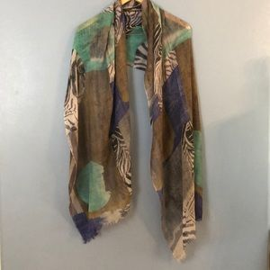 alisha d. Wool and Silk Blend Scarf